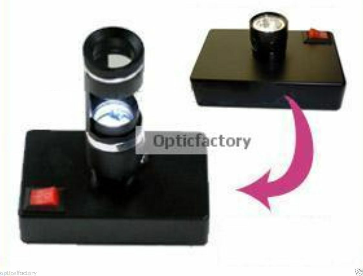 Primary image for Dark Field 10x Loupe with Desktop Light Darkfield Gem