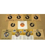 Bundle of 11 Miscellaneous 7in Vinyl Records Dot Reprise Warner Bros Rec... - $29.58