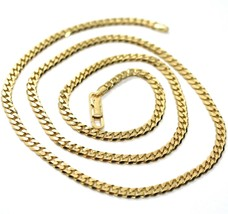 MASSIVE 18K GOLD GOURMETTE CUBAN CURB CHAIN 3.5 MM 20 IN. NECKLACE MADE IN ITALY image 1