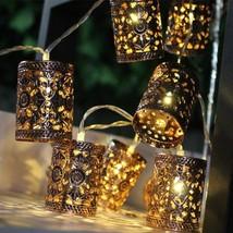 Lantern Battery lights 20 LED 450cm String Light Islamic Ramadan Eid Mor... - $29.00