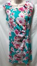 Karin Stevens Womens Sz 6 Sleeveless Floral Print Dress Sleeveless Zippe... - $13.72