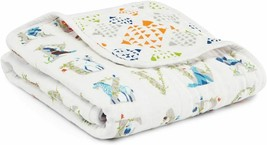 aden by aden + anais Stroller Blanket Cotton Muslin 4 Layer Paper Tales ... - $33.90