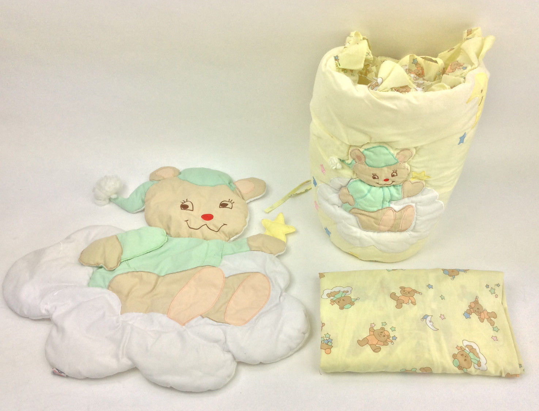Quiltex Vintage Baby Crib Bumper Sheet Wall and 50 similar items