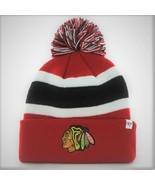 CHICAGO BLACKHAWKS KNIT BEANIE HAT SKI CAP BREAKAWAY RED CUFFED TOQUE BY... - £11.99 GBP