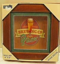 "Atlantic Brewing Co Pilsner Shadow Box Wood Wall Art 8"" X 8""  Designstyl... - $9.89"