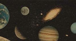 Black Outer Space Planets Stars Kids Wallpaper Border GU79212B - $16.99