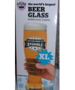 BIGMOUTH THE WORLD'S LARGEST BEER GLASS HOLDS OVER 3 PINTS NEW - $14.25