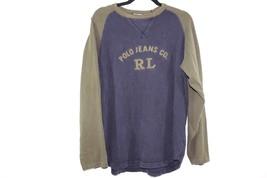 Vintage 90s RALPH LAUREN Mens Medium Long Sleeve Spell Out Thermal Shirt... - $29.35