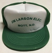Vtg Jim Larson Electric Trucker Hat Mott North Dakota Cap Electrician Bu... - $19.79