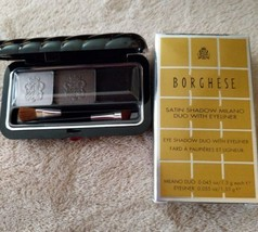 Borghese Satin Shadow Trio with Eyeliner - 03 Platinum Pietra New in Box - $11.35