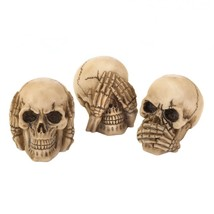 See Hear Speak Skulls Trio - £10.13 GBP