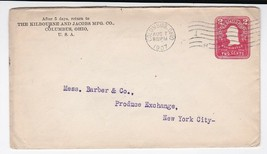 THE KILBOURNE AND JACOBS MFG CO COLUMBUS OHIO AUGUST 7 1907 - $1.98