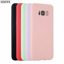 Silicone Case for Samsung galaxy S8 S9 S10 Plus S6 S7 Edge Note 8 9 3 4 ... - $2.24+
