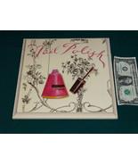 """BED BATH & BEYOND 11"""" X 11"""" WOOD BATH ART PARIS NAIL POLISH MADE IN CANADA - $14.09"""