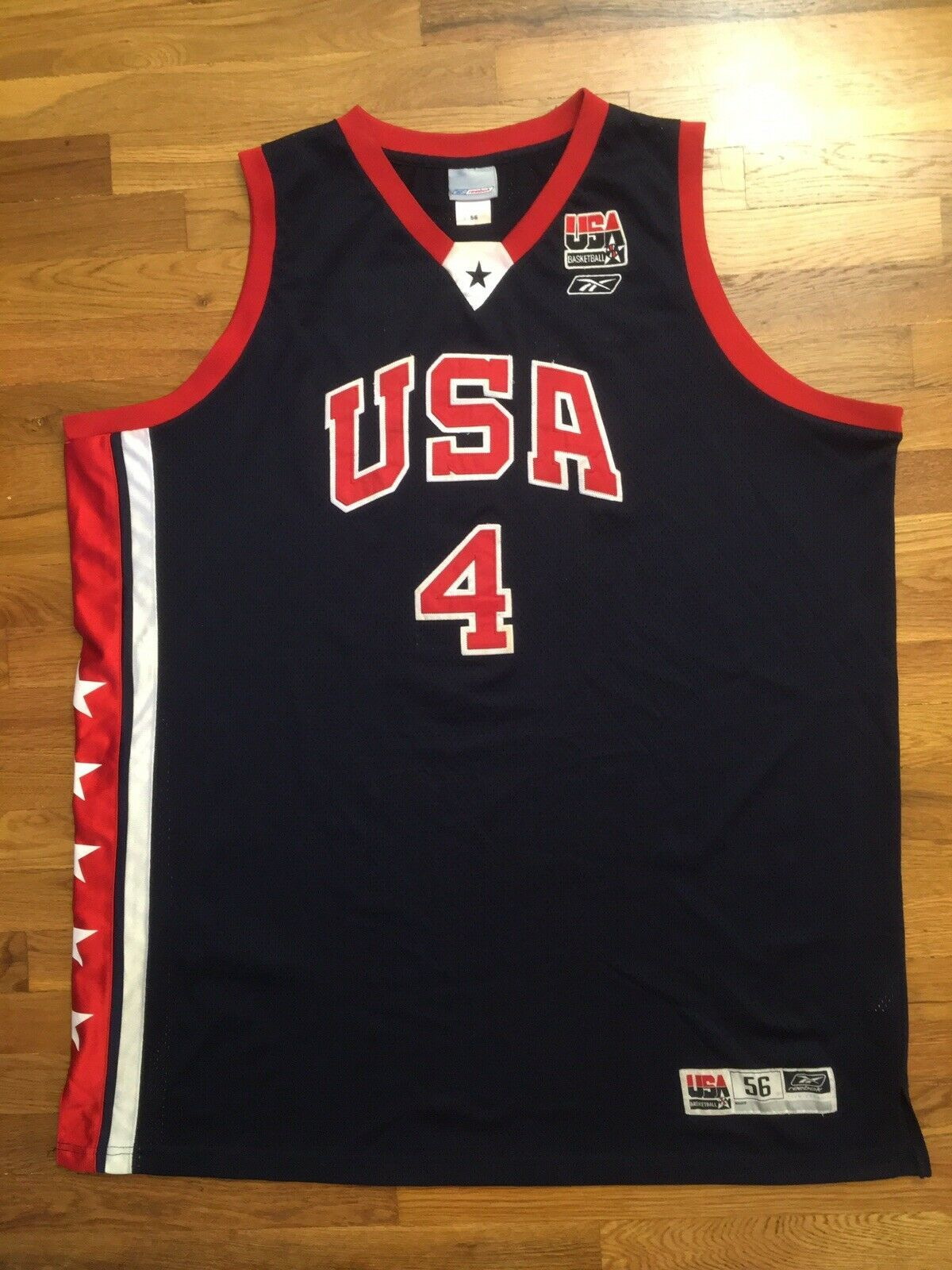 Primary image for Authentic Reebok 2003 Team USA Olympic Allen Iverson Road Away Jersey 56