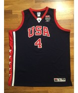 Authentic Reebok 2003 Team USA Olympic Allen Iverson Road Away Jersey 56 - $309.99