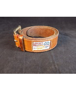 """Vintage LUCKY BRAND leather belt size 29-33"""" 1.5"""" wide single prong buckle - $15.87"""