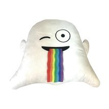 Almar Emoji Ghost Puking Rainbow Plush Throw Pillow - $14.84