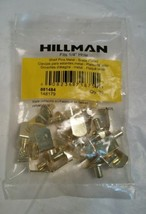 "Hillman 20-pack 0.25"" Brass L Shape Shelving Hardware 881484 Storage NIP... - $13.98"