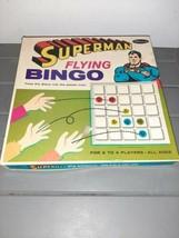 1966 Superman Flying Bingo Board Game Complete - $35.00
