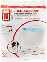 Dogit Fresh and Clear Pet Fountain Foam Carbon Cartridge, 3 Count, 6 Pack - £45.49 GBP