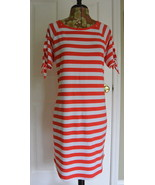 Michael Kors Striped T-Shirt Dress S Red White Cotton Sheath NWT - $39.95