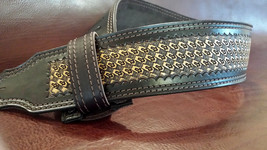 The 3 inch Natural Diamond Cross Guitar Strap - $198.00