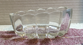 Vintage PRINCESS HOUSE Clear Glass Spoon Holder SPOONER Buffet Server RETRO - $8.99