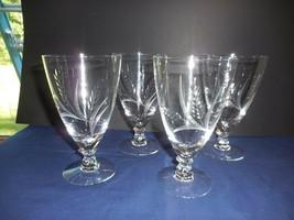 """Vintage Fostoria """"Wheat"""" Iced Tea Glasses Set of 4 - $71.01"""