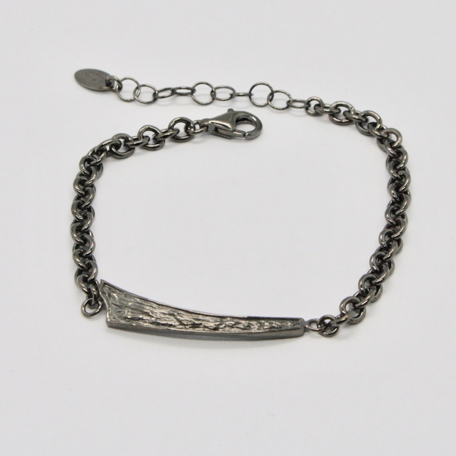 SILVER 925 BRACELET BURNISHED BLACK MAN WOMAN,ROLO',BY MARY JANE IELPO