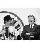 Billy Martin George Steinbrenner Yankees SFO 8X10 BW Baseball Memorabil... - $6.99