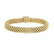 Authentic FOPE FLEX 18K Yellow Gold Profili Mesh Italy Bracelet Size 7.5... - $2,785.35