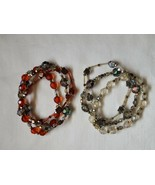 Lot of 2 glass bead braclets - £11.38 GBP