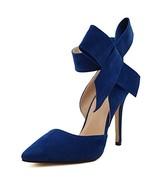 MAIERNISIJESSI Women's Pointy Toe High Heel Stiletto Big Bowknot Pumps ... - $31.86