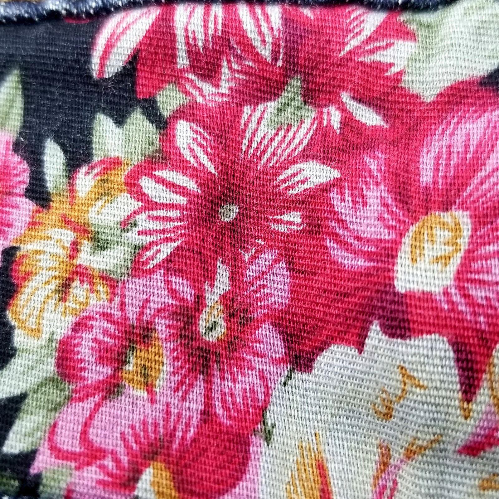 2.1 Denim Womens Jean Short Shorts Size 27 Flower Detail Distressed image 3