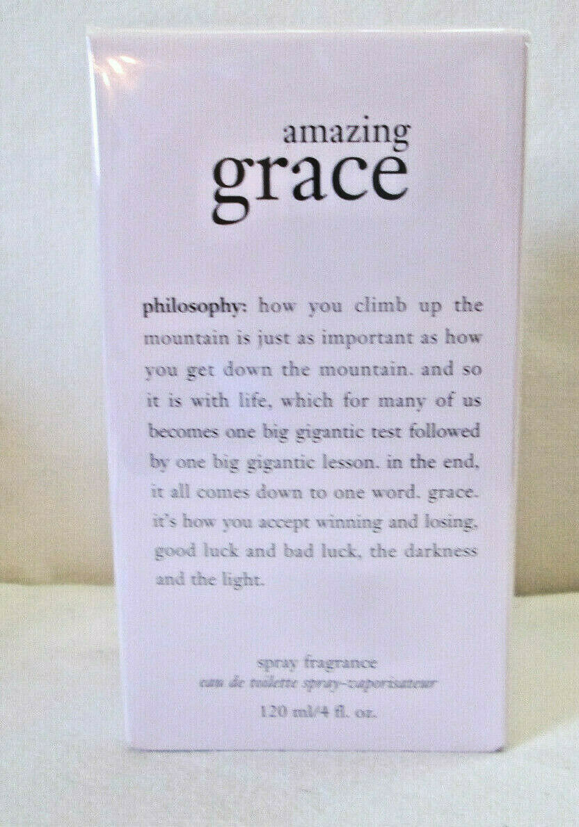 Primary image for Philosophy Amazing Grace 4oz  EDT Spray, New, Sealed