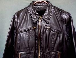 Vintage BRANDED GARMENTS INC. Leather Black Motorcycle Jacket Women's Si... - $134.99