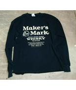 MAKERS MARK WHISKEY Long Sleeve T-Shirt Used Large - $24.99