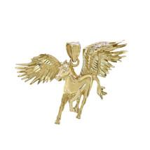 14k Yellow Gold Pegasus Horse Charm - $593.01