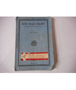 One Mad Night A Mystery Farce in Three Acts by James Reach 1935 - $19.00
