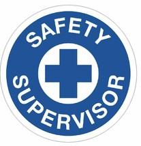Safety Supervisor Hard Hat Decal Hard Hat Sticker Helmet Safety Label H35 - $1.79+