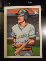 1990 Bowman Art Insert Card ~ Robin Yount Milwaukee Brewers ~ NM ....NICE - $1.88