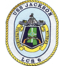 "5"" NAVY USS JACKSON LCS-6 EMBROIDERED PATCH - $23.74"