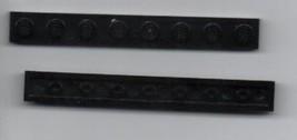 Two Black LEGO 1x8 Plate - Basic Building Set. - $0.98
