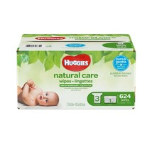 Home Care Baby Wipes Refills Huggies Natural Travel Pack Count 624 Wipes... - $39.59