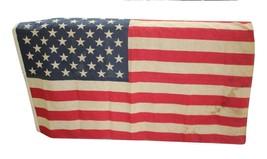 "Vintage Vietnam War US ARMY Distressed 50 Star US American Flag 57"" x 37"" c1960s - $89.99"