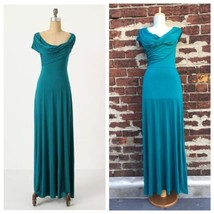 Anthropologie sz S Plenty Tracy Reese Teal Jersey Knit Irresistible Maxi... - $75.47