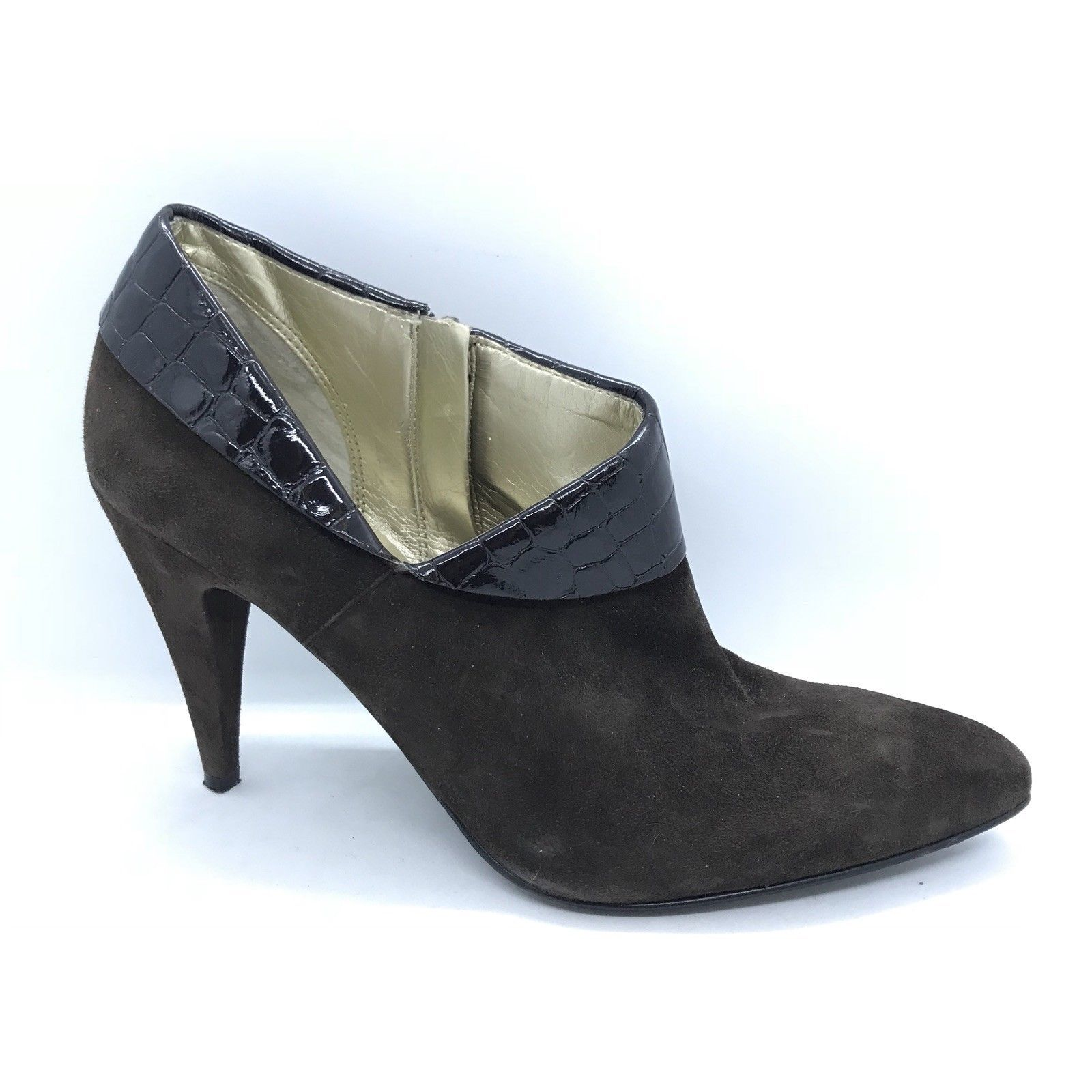 238e3f731d1b Guess Heeled Booties Women Size 7.5M Suede Leather Brown Shoes -  30.00