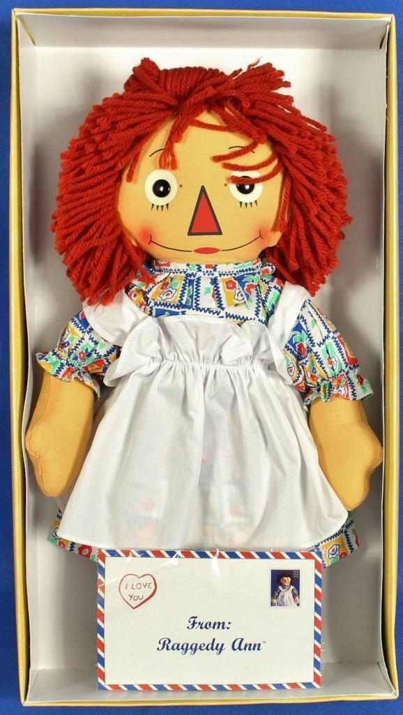 "Raggedy Ann Doll Commemorative Stamp 17"" Limited Edition 1997 Applause w/ Box image 1"