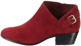 Vince Camuto Suede Booties Buckle Parveen Beaujolais 10W NEW A311049 - £87.42 GBP